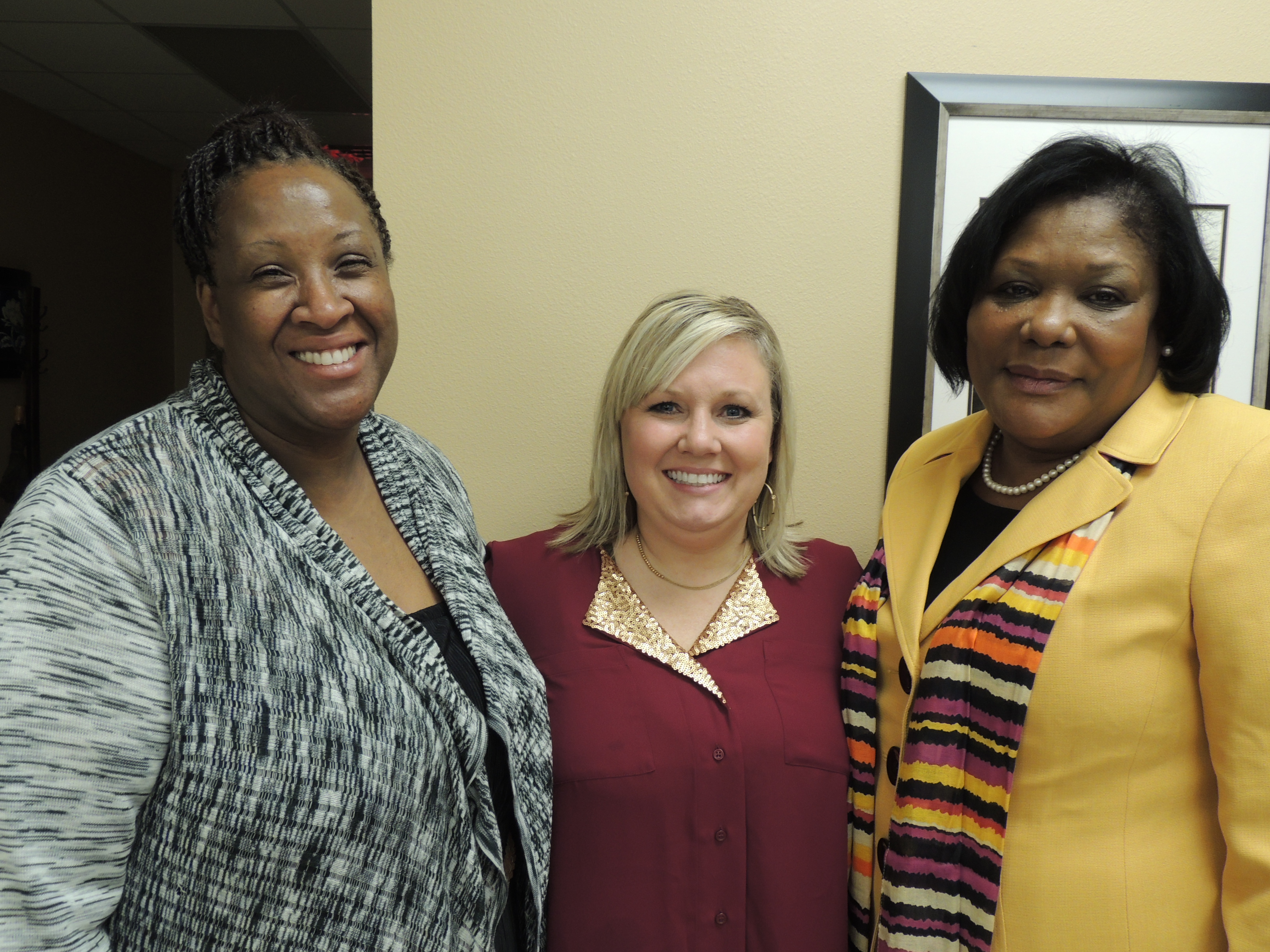 Iketha Williams-Scholarship Chair; Robin Cox-Serenity Care Providers; Angie Jackson-Wilson-BPW Pres.